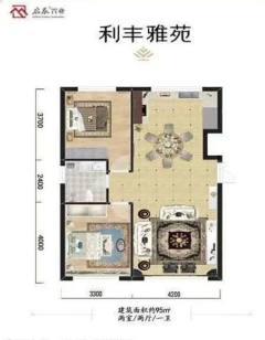 (红山区)利丰雅苑3室2厅2卫95m²精装修