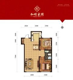 (松山区)和硕家园2室2厅1卫92m²毛坯房