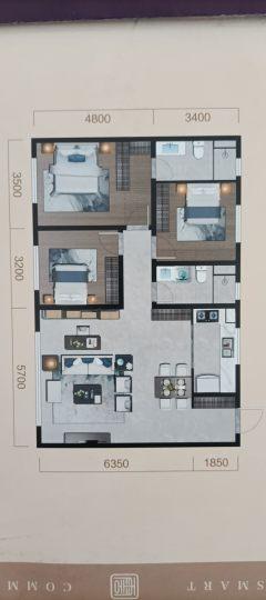 (红山区)中天 云府3室2厅1卫124.71m²